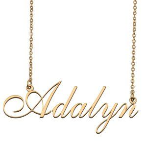 Custom Personalized Adalyn Name Necklace